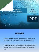 Air Dan Elektrolit