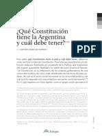 ¿Qué Constitución Tiene La Argentina y Cuál Debe Tener