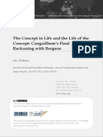 Canguilhem's Final Reckoning With Bergson