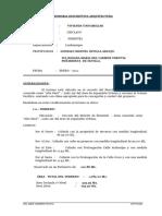 EJEM. MEMORIA DE PLANO ARQUITECTÓNICO