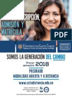 Guia de Inscripcion Admision y Matricula 2018 1