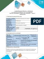 Guía de Actividades y Rúbrica de Evaluación  Organización
