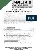 13. Simple Harmonic Motion