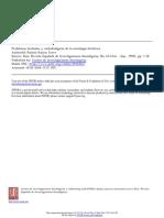 Problemas Textuales y Metodológicos de La Sociología Histórica