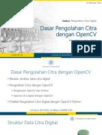 Dasar Pengolahan Citra dengan OpenCV