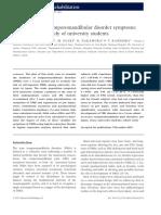 Temporo-mandibular Disordes Among University Students