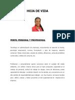 Hoja de Vida Leidy Paola Vera Actualizada