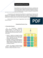 Organizational Structures (Assignment)