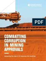 Combatting corruption in mining approvals.