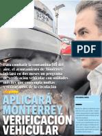 09-04-19 APLICARÁ MONTERREY VERIFICACIÓN VEHICULAR