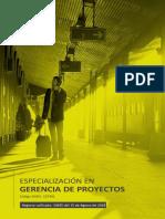 Especializacion en Gerencia de Proyectos
