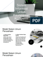 Sistem Informasi Untuk Keunggulan Kompetitif