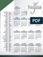 calendario poder judicial 2019