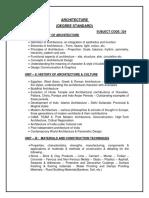 New Syllabus Architecture UG