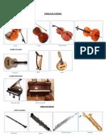 Familia de Los Instrumentos Musicales 2019