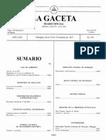 Decreto No. 21- 2017 publicado en la Gaceta de Nicaragua