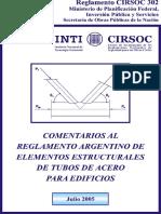 CIRSOC 302-2005 Elementos estructurales de tubos de acero para edificios COMENTARIOS.pdf
