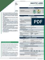 Especificación técnica de epoxi