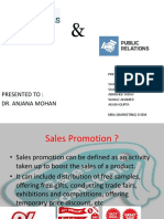 Presentation on Sales Promotion and public relations
