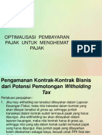 OPTIMALISASI  PEMBAYARAN  PAJAK  UNTUK  MENGHEMAT  PAJAK.pptx