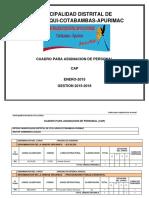 CUADRO PARA ASIGNACION DE PERSONAL