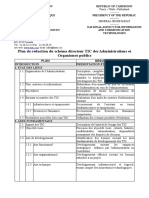 Plan de Redaction Du Schema Directeur TIC