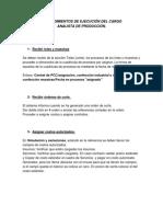 Procedimientos Analista de Produccion