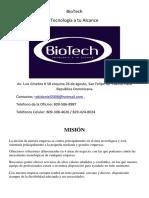 Biotech Tecnologia a Tu Alcance