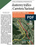 10-04-19 'Aliviará' Monterrey tráfico en zona de Carretera Nacional