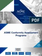 Conformity Assessment ASME