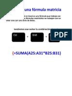 Formulas Matriciales