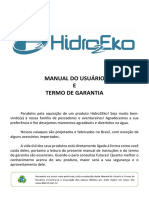 Hidro2eko Manual Do Usuario e Termo de Garantia 2019