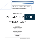 Manual de Instalación de Windows