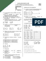 Taller de Recuperacion Grado 701- Matematicas