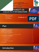 les instruments de collecte d'informations