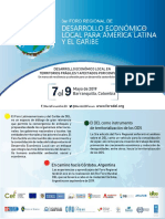 3er Foro Regional de Desarrollo Económico Local para América Latina y el Caribe - 7 al 9 de mayo de 2019 - Barranquilla, Colombia