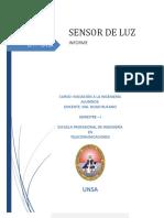 Informe Sensor de Luz en Protoboard