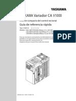 Manual Variador V1000 Yaskawa Español