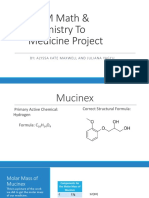 stem math   chemistry to medicine project