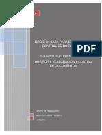 Org-g-01 Guía Para Elaboración y Control de Documentos