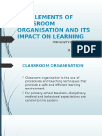 Key Elements of Classroom Organisation and Its Impact