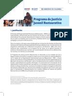 Presentación Programa de Justicia Juvenil Restaurativa Minjusticia