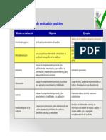 Métodos de Evaluación Auditoria
