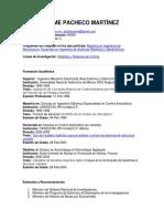 Currículum Jaime Pacheco