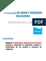 TEMA N°2-PROCESOS  UNION- SOLDADURA