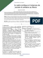 Etat Des Lieux Du Cadre Juridique Et Instances de Leconomie Sociale Et Solidaire Au Maroc (1)