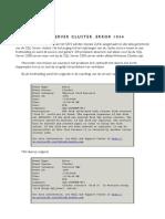 Cluster Servers Error 1034
