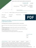 Adaptación Psicológica y Prevalencia de Trastornos Mentales en Pacientes Con Cáncer _ Medicina Clínica