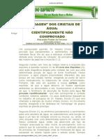 Mensagem Dos Cristais de Água - Cientificamente Não Comprovado_Alexandre Fonseca