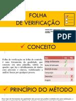 Folha de Verificação Slide